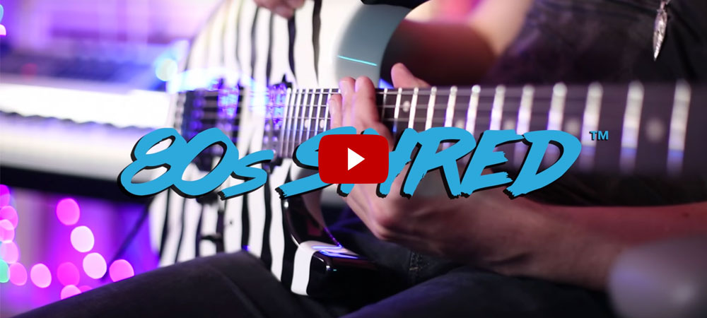 Steve Stevens and Pete Thorn play the Suhr 80s Shred MKII