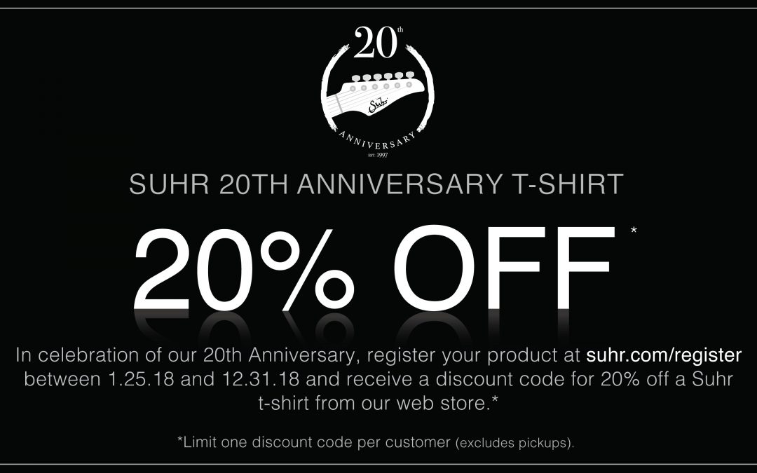 Register Your Gear & Get 20% Off T-Shirt