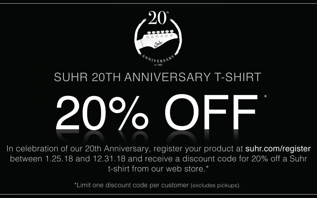 Register Your Gear & Get 20% Off T-Shirt