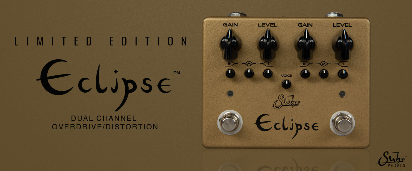 Suhr Eclipse Dual Channel Overdrive Distortion Pedal 2020 Limited Gold