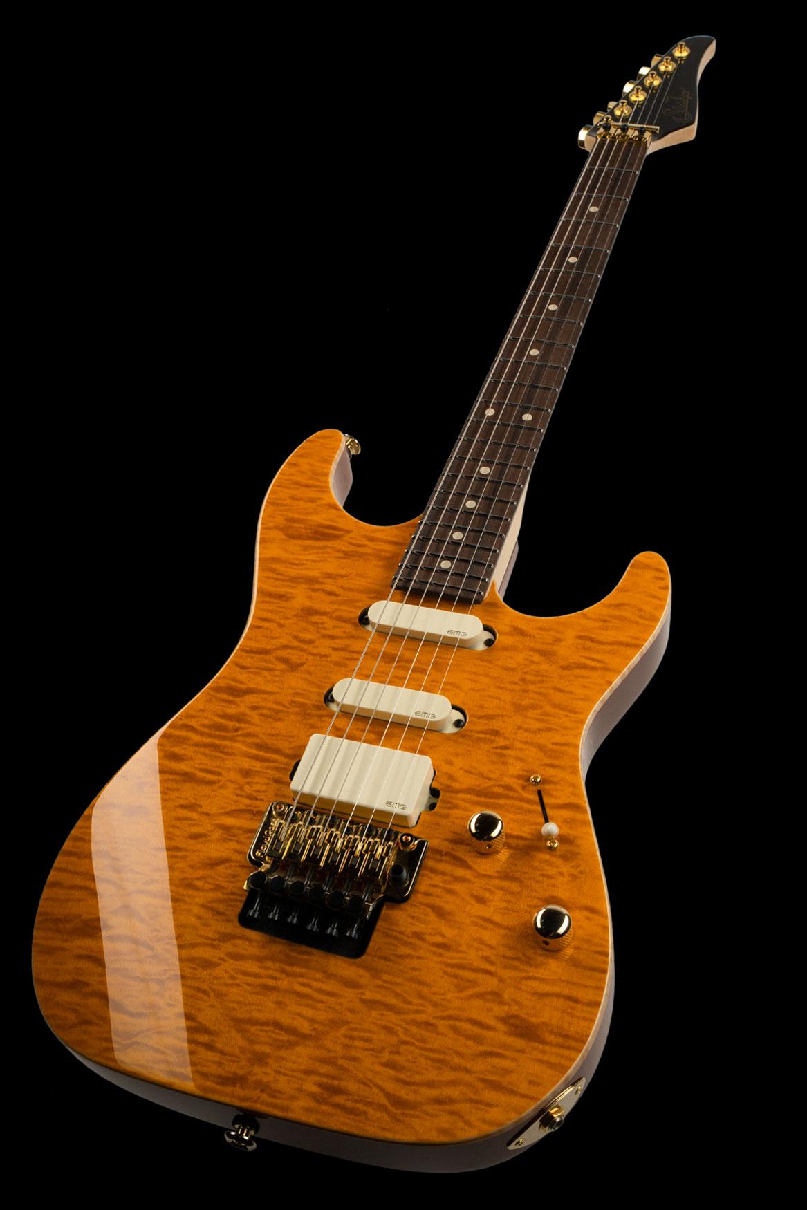 01-LTD-0034: Standard Legacy, Trans Caramel, Original Floyd Rose